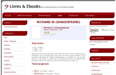 http://www.livres-et-ebooks.fr/ebooks/Richard_III_(Shakespeare)-3964/