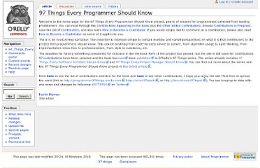 http://programmer.97things.oreilly.com/wiki/index.php/97_Things_Every_Programmer_Should_Know