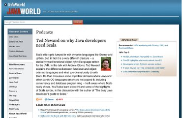 http://www.javaworld.com/podcasts/jtech/2008/061008jtech.html