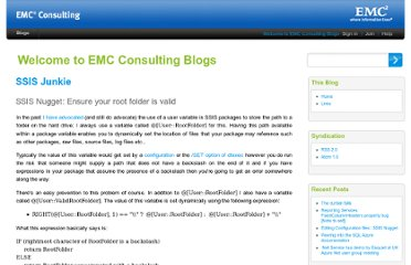 http://consultingblogs.emc.com/jamiethomson/archive/2008/05/19/ssis-nugget-ensure-your-root-folder-is-valid.aspx