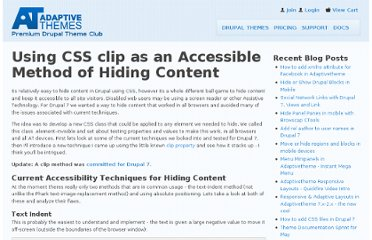 http://adaptivethemes.com/using-css-clip-as-an-accessible-method-of-hiding-content