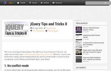 http://www.queness.com/post/172/jquery-tips-and-tricks-ii