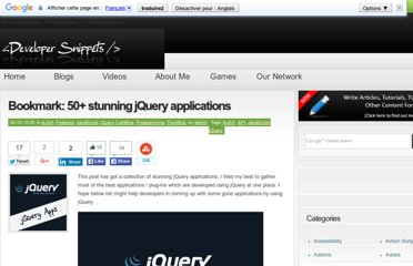 http://www.developersnippets.com/2009/01/15/bookmark-50-stunning-jquery-applications/