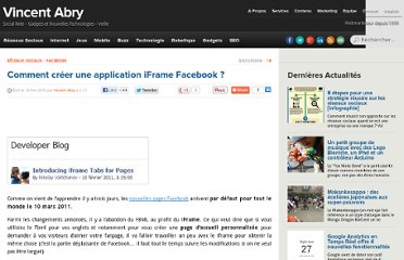 http://www.vincentabry.com/comment-creer-une-application-iframe-facebook-10951