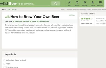 http://www.wikihow.com/Brew-Your-Own-Beer