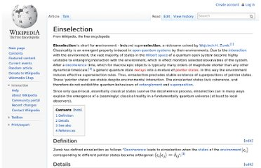 http://en.wikipedia.org/wiki/Einselection