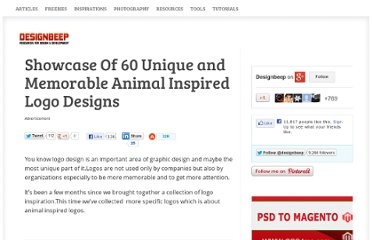http://designbeep.com/2011/02/05/showcase-of-60-unique-and-memorable-animal-inspired-logo-designs/