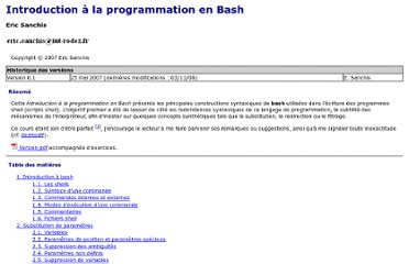 http://aral.iut-rodez.fr/fr/sanchis/enseignement/bash/index.html