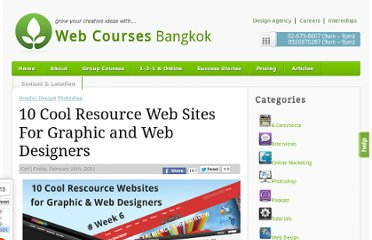 http://www.webcoursesbangkok.com/blog/graphic-design/10-cool-resource-web-sites-for-graphic-and-web-designers/
