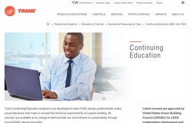 http://www.trane.com/COMMERCIAL/ContinuingEducation/ContinuingEducation.aspx?i=2534