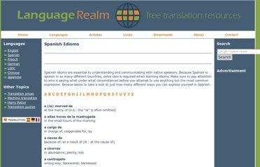 http://www.languagerealm.com/spanish/spanishidioms.php