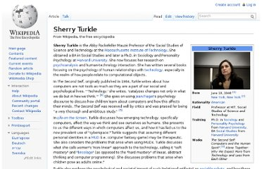 http://en.wikipedia.org/wiki/Sherry_Turkle