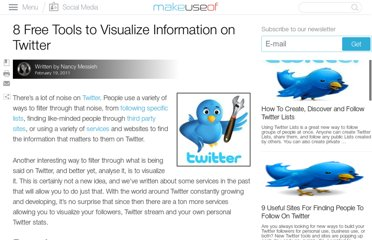 http://www.makeuseof.com/tag/8-free-tools-visualise-information-twitter/