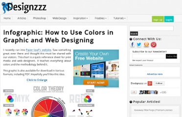 http://www.designzzz.com/infographic-how-to-use-colors-in-graphic-and-web-designing/