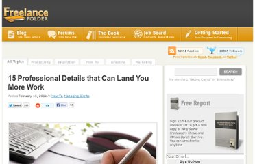 http://freelancefolder.com/15-professional-details-that-can-land-you-more-work/