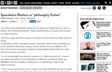 http://www.wired.com/beyond_the_beyond/2011/02/speculative-realism-as-philosophy-fiction/