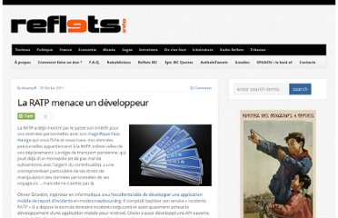 http://reflets.info/ratp-menace-developpeur/