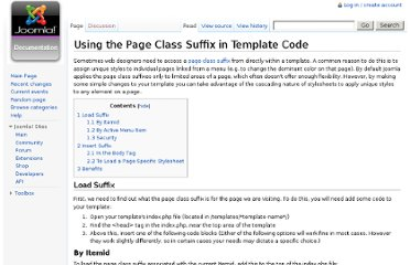 http://docs.joomla.org/Using_the_Page_Class_Suffix_in_Template_Code