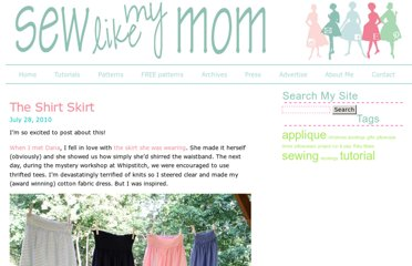 http://sewlikemymom.com/the-shirt-skirt/
