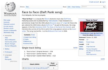 http://en.wikipedia.org/wiki/Face_to_Face_(Daft_Punk_song)