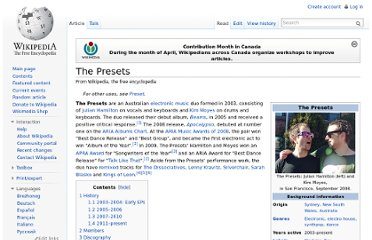 http://en.wikipedia.org/wiki/The_Presets