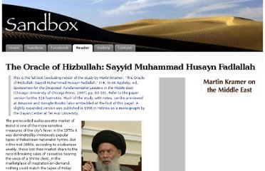 http://www.martinkramer.org/sandbox/reader/archives/oracle-of-hizbullah-sayyid-muhammad-husayn-fadlallah/