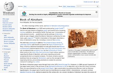 http://en.wikipedia.org/wiki/Book_of_Abraham#Controversy_and_Criticism