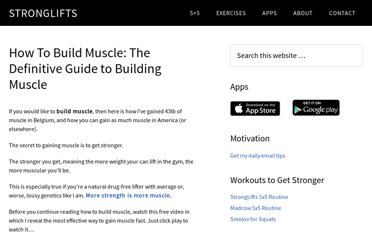http://stronglifts.com/how-to-build-muscle-mass-guide/