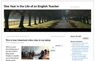 http://www.yearinthelifeofanenglishteacher.com/2011/01/this-is-how-i-download-video-clips-to-my-laptop/