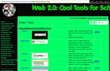 http://cooltoolsforschools.wikispaces.com/Video+Tools
