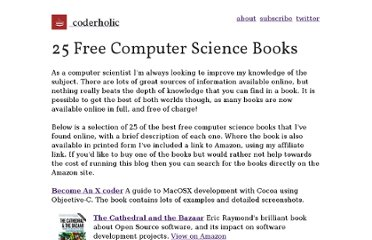 http://www.coderholic.com/25-free-computer-science-books/