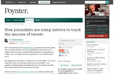 http://www.poynter.org/how-tos/digital-strategies/118207/how-journalists-are-using-bit-ly-other-shorteners-to-track-the-success-of-tweets/