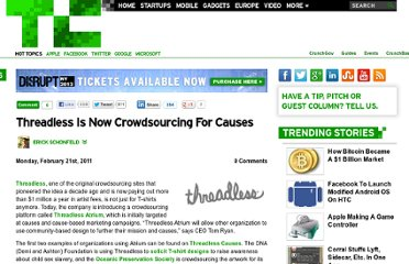 http://techcrunch.com/2011/02/21/threadless-crowdsourcing-causes/
