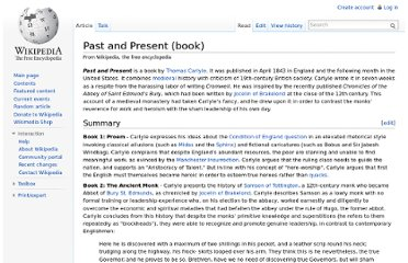 http://en.wikipedia.org/wiki/Past_and_Present_(book)