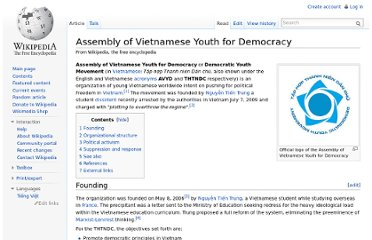 http://en.wikipedia.org/wiki/Assembly_of_Vietnamese_Youth_for_Democracy