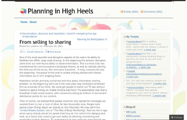 http://planninginhighheels.com/2011/02/22/from-selling-to-sharing/