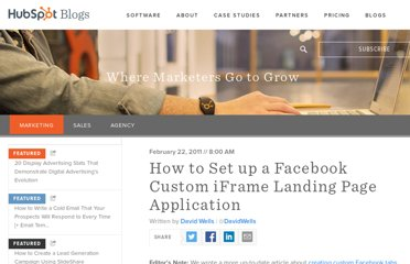 http://blog.hubspot.com/blog/tabid/6307/bid/9883/How-to-Set-up-a-Facebook-Custom-iFrame-Landing-Page-Application.aspx