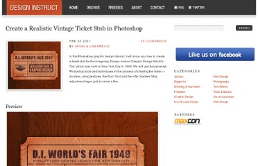 http://designinstruct.com/graphic-design/create-a-realistic-vintage-ticket-stub-in-photoshop/