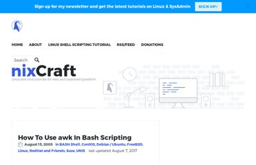 http://www.cyberciti.biz/faq/bash-scripting-using-awk/