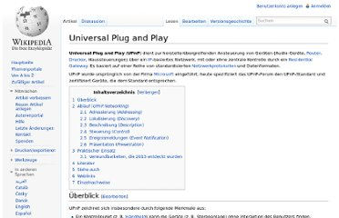 http://de.wikipedia.org/wiki/Universal_Plug_and_Play