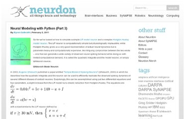 http://www.neurdon.com/2011/02/02/neural-modeling-with-python-part-3/
