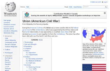 http://en.wikipedia.org/wiki/Union_(American_Civil_War)