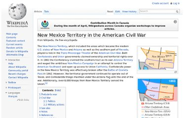 http://en.wikipedia.org/wiki/New_Mexico_Territory_in_the_American_Civil_War