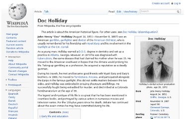 http://en.wikipedia.org/wiki/Doc_Holliday