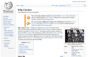 http://en.wikipedia.org/wiki/Billy_Clanton