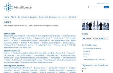 http://www.i-intelligence.eu/resources/links/