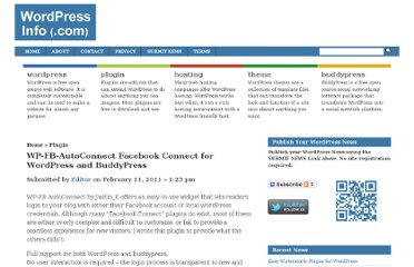 http://wordpressinfo.com/2011/02/11/wp-fb-autoconnect-facebook-connect-for-wordpress-and-buddypress/