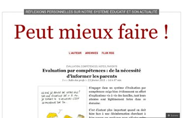 http://laurentfillion.wordpress.com/2011/02/23/evaluation-par-competences-de-la-necessite-dinformer-les-parents/