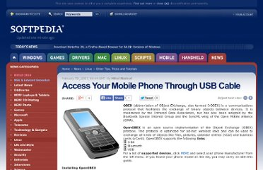 http://news.softpedia.com/news/Access-Your-Mobile-Phone-Through-USB-Cable-46486.shtml