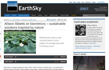 http://earthsky.org/human-world/allison-alberts-biomimicry-uses-natures-best-ideas-to-solve-human-problems-sustainably